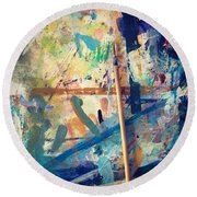 Art Table 7 Round Beach Towel