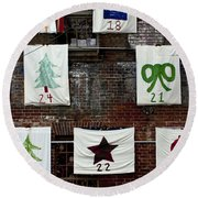 art textures holidays in Old Towne Round Beach Towel