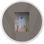 Art Therapy 105 Round Beach Towel