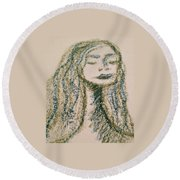 Art Therapy 132 Round Beach Towel