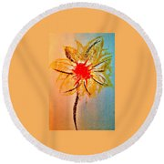 Art Therapy 135 Round Beach Towel