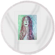 Art Therapy 136 Round Beach Towel