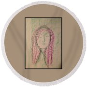Art Therapy 137 Round Beach Towel