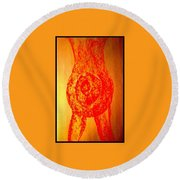 Art Therapy 138 Round Beach Towel