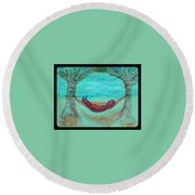 Art Therapy 144 Round Beach Towel