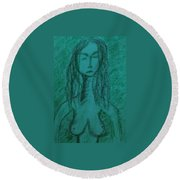 Art Therapy 149 Round Beach Towel