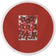 Art Therapy 15 Round Beach Towel