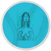 Art Therapy 150 Round Beach Towel