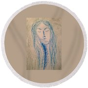 Art Therapy 152 Round Beach Towel