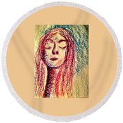 Art Therapy 153 Round Beach Towel