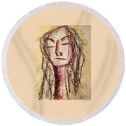 Art Therapy 156 Round Beach Towel