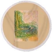 Art Therapy 159 Round Beach Towel