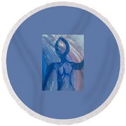 Art Therapy 16 Round Beach Towel