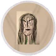 Art Therapy 162 Round Beach Towel