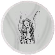 Art Therapy 165 Round Beach Towel