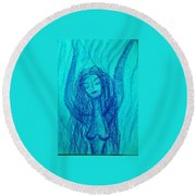 Art Therapy 166 Round Beach Towel