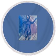 Art Therapy 17 Round Beach Towel