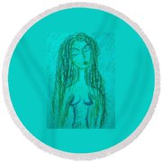 Art Therapy 170 Round Beach Towel