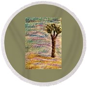 Art Therapy 177 Round Beach Towel