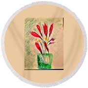 Art Therapy 179 Round Beach Towel
