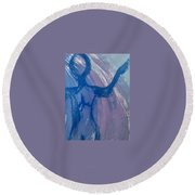 Art Therapy 18 Round Beach Towel