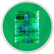 Art Therapy 181 Round Beach Towel