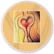 Art Therapy 184 Round Beach Towel