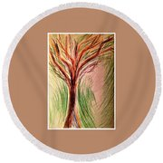 Art Therapy 185 Round Beach Towel