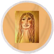 Art Therapy 188 Round Beach Towel