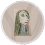 Art Therapy 192 Round Beach Towel