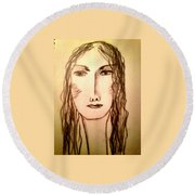 Art Therapy 194 Round Beach Towel