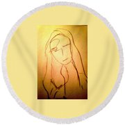 Art Therapy 197 Round Beach Towel