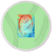 Art Therapy 23 Round Beach Towel