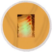 Art Therapy 24 Round Beach Towel