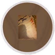 Art Therapy 25 Round Beach Towel