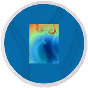 Art Therapy 26 Round Beach Towel