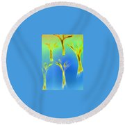 Art Therapy 28 Round Beach Towel