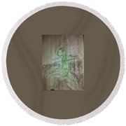 Art Therapy 42 Round Beach Towel
