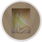 Art Therapy 49 Round Beach Towel