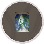 Art Therapy 9 Round Beach Towel