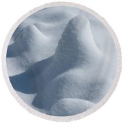 Artful Snowfall Round Beach Towel