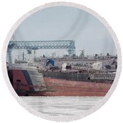 Arthur Anderson Freighter Round Beach Towel