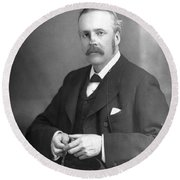 Arthur James Balfour (1848-1930) Round Beach Towel