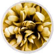 Artificial Flower Round Beach Towel