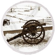 Artillery Positions - Toned Round Beach Towel