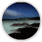 Artillery Rocks Looking Back To Kennet Round Beach Towel