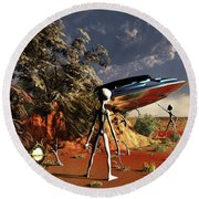 Artist Concept Of The Roswell Incident Round Beach Towel