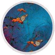 Artistic Butterflies Round Beach Towel