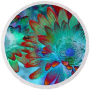 Artistic Flowers Round Beach Towel