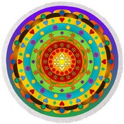 Artistic Impressions Round Beach Towel